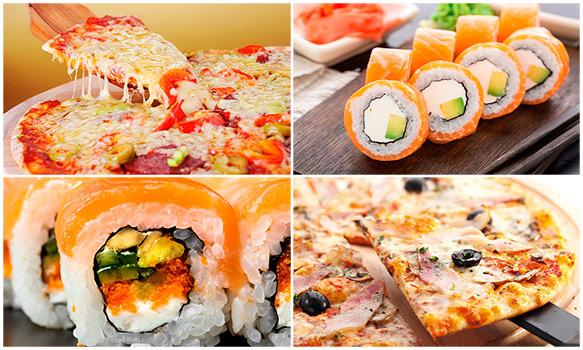 Доставка вкусных суши, роллов и пиццы